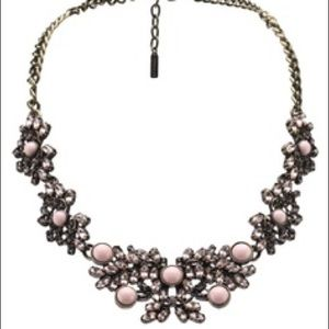 Sugarfix Bubble gum pink Crystal flower necklace